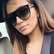 New Black Clear Oversized Square Sunglasses Women Gradient 2018 New Black Clear