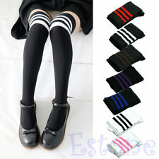 Fashion Women Sexy Stripe Cotton Over Knee Socks Thigh High Stockings Long Socks