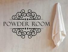 Powder Room Sign, Powder Room Vinyl Wall Decal, Home Decor, Custom Vinyl Decals,