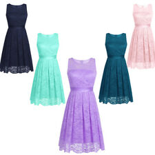 Womens Evening Gown Party Prom Ball Dress Lace Short Dress Cocktail Formal New