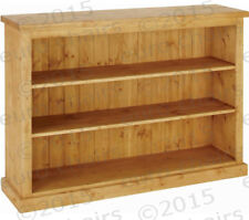 "WIDE 3FT PINE BOOKCASE MADE IN ENGLAND | PINE BOOKCASE MADE FROM 9"" PINE PLANKS"