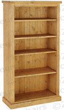 5FT WAXED PINE BOOKCASE  | PINE BOOKCASE WITH CHUNKY TOP | SOLID PINE PLANKS