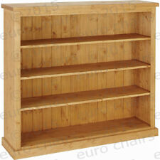 "WIDE 4FT PINE BOOKCASE MADE IN ENGLAND | PINE BOOKCASE MADE FROM 9"" PINE PLANKS"