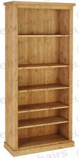 6FT WAXED PINE BOOKCASE  | PINE BOOKCASE WITH THICK TOP | SOLID PINE PLANKS