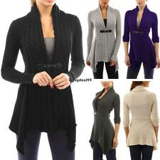 Women Casual Long Sleeve Knitted Cardigan Loose Sweater Jacket Coat OO55 01
