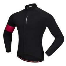 Cycling Long Jersey Bike Biking Shirt Jersey Long Sleeve Camping Black Red
