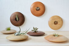 F/S Wall Planters / Candle Holder, Wood Round Planter, Succulent plant Holder