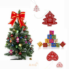 New Wooden Christmas Present Parcel Wedding Party Xmas Tree Hanging Decoration