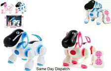 Remote Control I ROBOT DOG CAT Walking Nodding Toy Pet Puppy Electronic Light UK