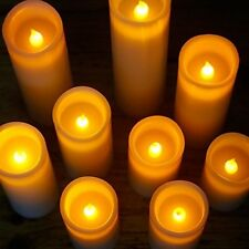 Flameless LED Candles Pillar Flickering LED Candles Set of 9 With Remote Timer