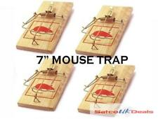 "Large Reusable 7"" Wooden Mouse Traps Bait Mice Vermin Rodent Pest Control Mouset"