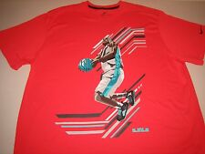 "Nike LeBron James ""LeBron Action"" Dri-Fit T-Shirt Varsity Red Men's XL 2XL BNWT!"