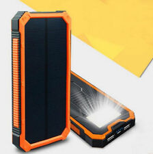 10000-20000mah External Battery Solar Power Bank Portable Dual USB Phone Charger