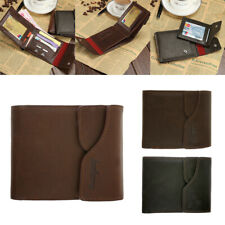 Bifold Retro Wallet Mens Leather Credit/ID Card Holder Slim Bifold Purse Clutch
