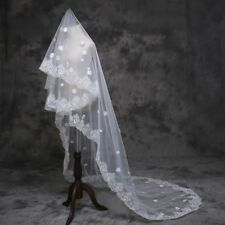 Fashion Wedding Veils White/Ivory Tulle  Bridal Veil Bride Hair Accessory
