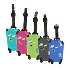 Plastic Travel Suitcase Luggage ID Tags Labels Name Address ID Suitcase Bag