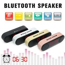 Bluetooth 2.1+EDR Speakers Digital FM Radio Dual Alarm Clock Subwoofer 5Wx 2