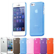 Ultra Thin Crystal Clear Transparent Case Cover for Apple iPhone 5 & 5S +Guard