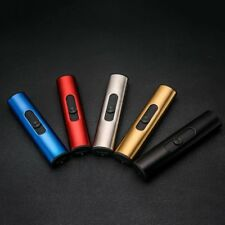 USB Smoke Cigar Lighters Cylindrical Windproof Mini Electric Smoking Lighter SM