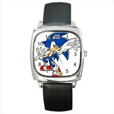 Sonic The Hedgehog Round & Square Leather Strap Watch