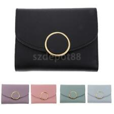 Women Small PU Leather Trifold Wallet Clutch Checkbook Wallets Purse for Women