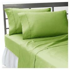 1000 TC Egyptian Cotton Sage Solid UK Size Sheet Set/Duvet/Fitted/Flat Sheet