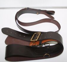 Sam Browne Leather Belt & Cross Strap British Army Officers Ceremonial in Brown