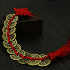 Chinese Feng Shui Protection Lucky Fortune Charm Red Tassel String Tied Coins*~*