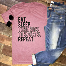 Womens Letters Printed Shirt Top O Neck T-shirt Tops Short Sleeve Tee Blouse