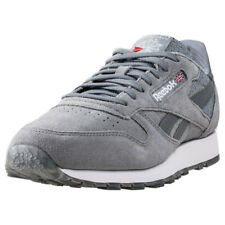 Reebok Classic Leather Nm Flint Mens Grey Suede Casual Trainers Lace-up