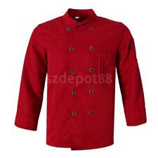 New Mens Womens Quality Chef Jacket Long Sleeves WITH PEN POCKETS Chefwear Coat