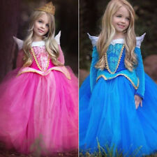 Disney Princess Aurora Dress Kids Girls Sleeping Beauty Xmas Costume