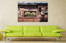 Canvas Poster Wall Art Print Decor Flower Boxes Balcony Window Sill