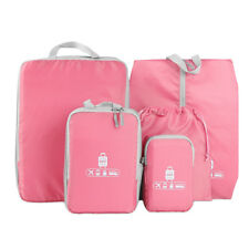 5 Piece Travel Organizers Packing Cubes Set Luggage Suitcase Bag Accessories