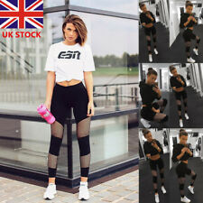 UK Women High Waist Stretch Leggings Fitness Yoga Pants Sport Gym Sport Trousers