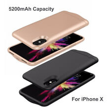 Apple iPhone X 10 5200mAh External Backup Cover Case Battery Charger Power Bank