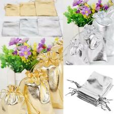 50pcs Drawstring Organza Wedding Gift Party Favor Jewelry Pouch Bag S/M/L Size