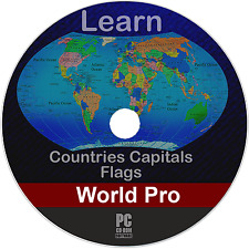 Learn World Countries Capitals Flags Map Puzzles Quiz History (Orig) (PC Game)