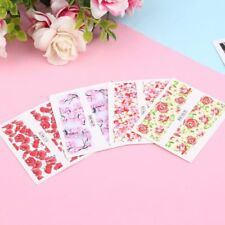 24 sheet Water Decals Nail Art Transfer Stickers Flower Manicure Decoration TL
