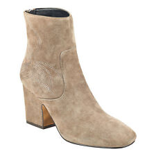 New In Box Womens Marc Fisher JOHNNY Taupe Suede Ankle Boots