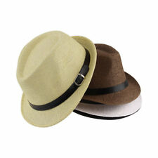 Stylish Hat Summer Straw Hat Cap Topee Fedora Trilby Panama Hat Cap Jazz Hat @G