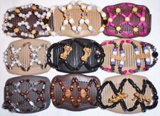 """Double Magic Hair Combs, Angel Wings Clips 4x3.5"""", African Butterfly,Quality S13"""