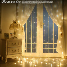 3*3M 304 LED Wall Curtain Window Fairy String Lights Christmas Wedding Party