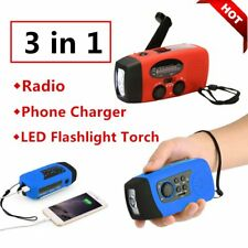 Hand Crank Generator Wind Up Solar Rechargeable Light AM/FM/PM Charger Lot SM