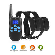 Electric Remote Dog Training Shock Collar 300 Yard Waterproof Rechargeable LCD