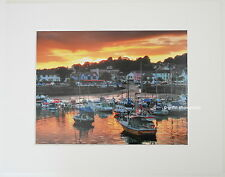 "Saundersfoot ""Harbour Sunset""  Limited Edition Mounted  Photo Print 14x11 8x6"