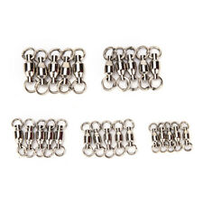 20Pcs ball bearing swivel with solid ring fishing rolling swivel connector Fad*_