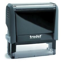 Rubber Stamp Self-Inking Trodat Printy up to 8 Lines with custom text logo