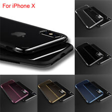 Shockproof Soft Bumper Case + Hard Acrylic Clear Back Cover For Apple iPhone X