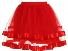 Woman Short White/Red/Black  3 Hoop Bridal Wedding Dress Petticoat Crinoline